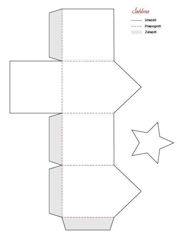 Šablona za škatlice s foto nalepkami
