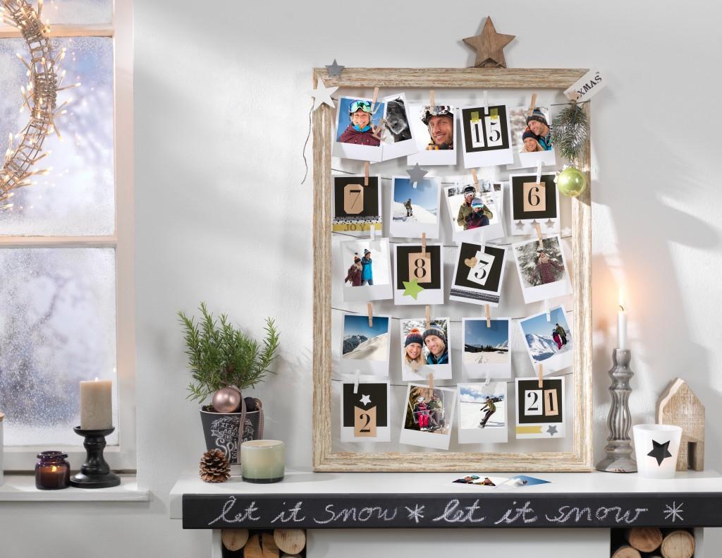 Adventni koledar s CEWE fotkami v stilu Polaroid