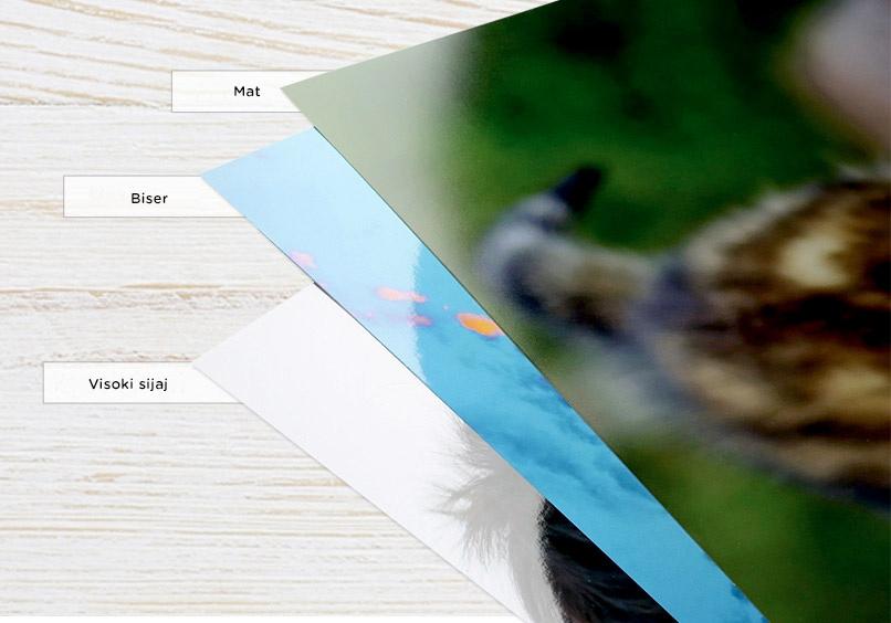 Premium poster na fotopapirju biser, mat in sijaj