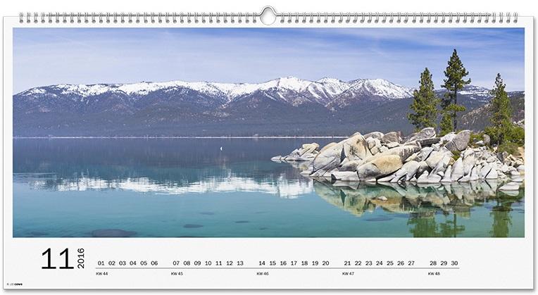 Stenski koledar XXL panorama
