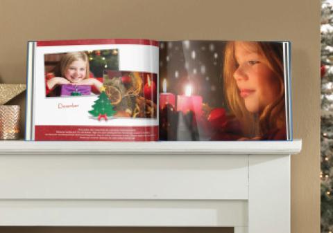 Božični kliparti v fotoknjigi