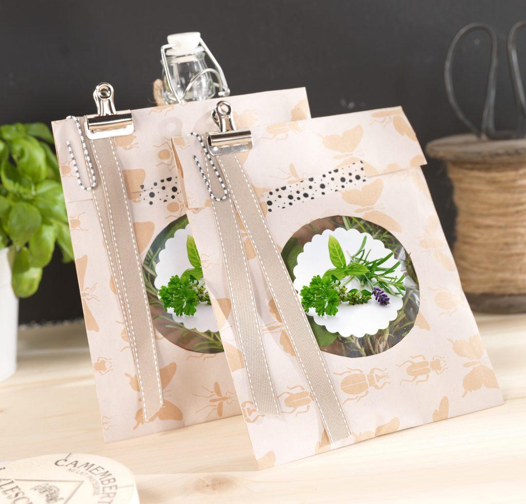 Foto nalepke na vrečki z začimbami