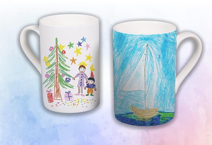 Skodelica z ladijco in božičnim motivom
