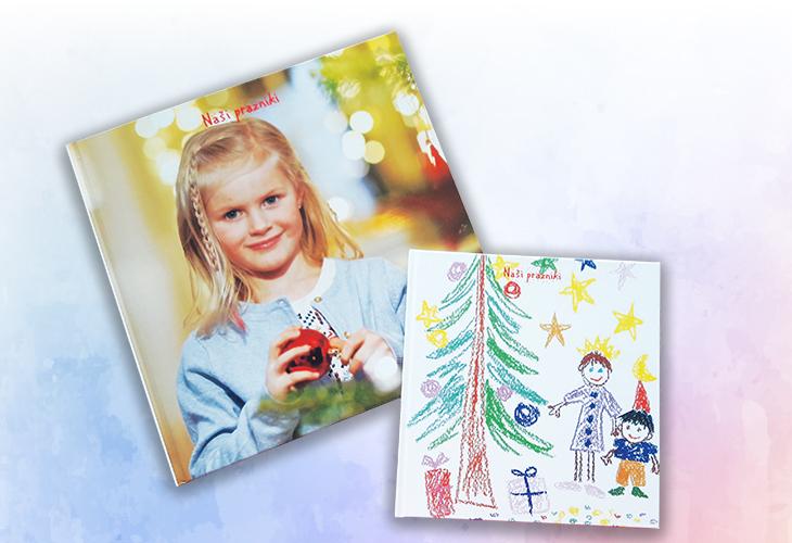 Fotoknjiga z risbico in punčko