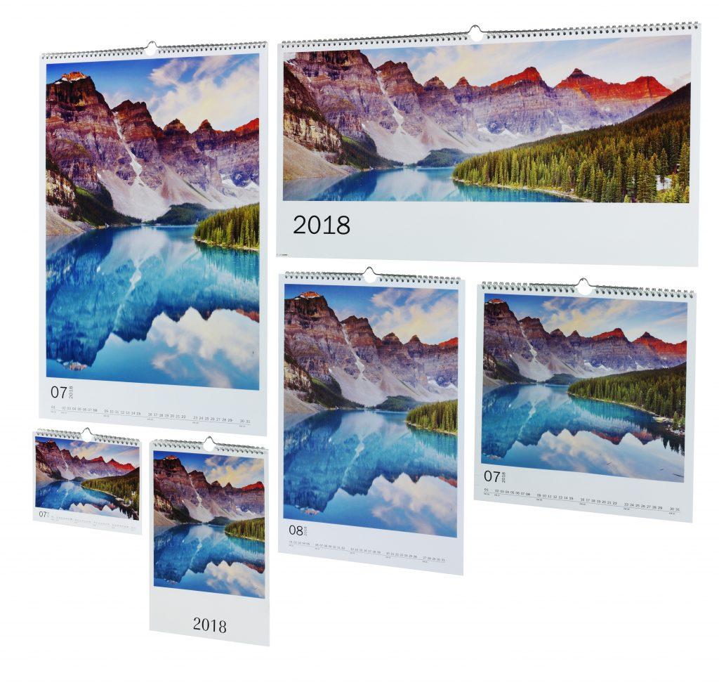 stenski foto koledarji različnih velikosti z motivom narave