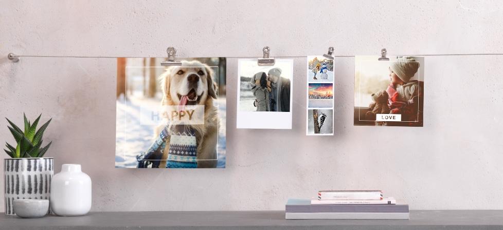 retro, kvadratne in mini fotografije