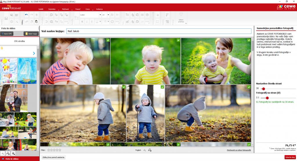 oblikovanje fotoknjige v foto programu