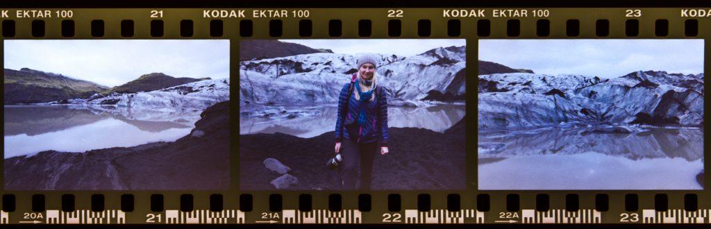 Delček filma Kodak Ektar 100
