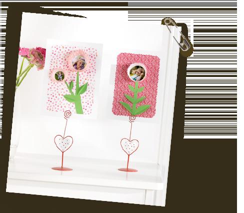 ročno izdelane rože z lastnimi fotografijami