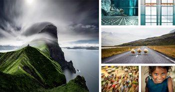 klif, plavanje v bazenu, cesta z ovcami, gneča v križišču, nasmeh punčke, simetrija bazena