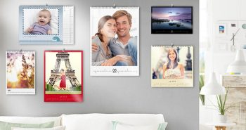 stenski foto koledarji različnih velikosti in oblik z lastnimi fotografijami