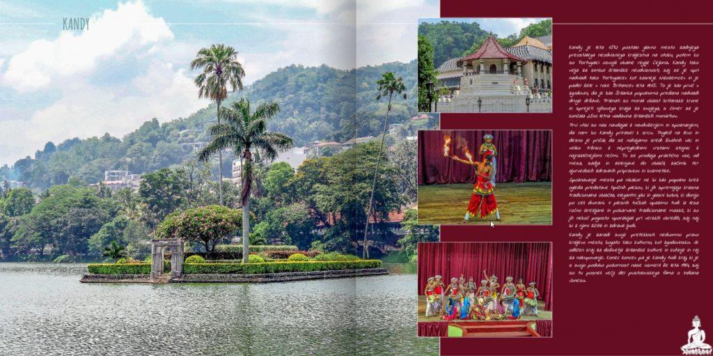 Stran v fotoknjigi Šrilanka z barvnim ozadjem