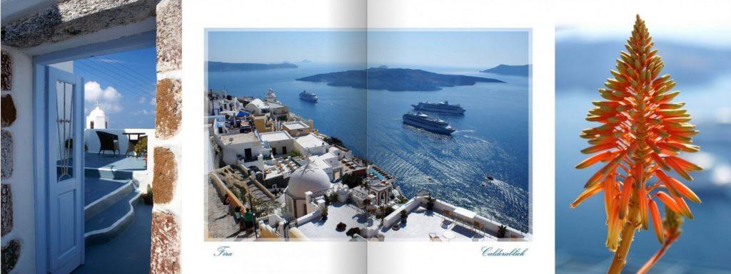 Dvostran iz fotoknjige Santorini, transparentni okvir