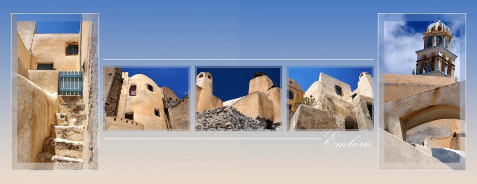 Dvostran iz fotoknjige Santorini, maska in beli barvni rob