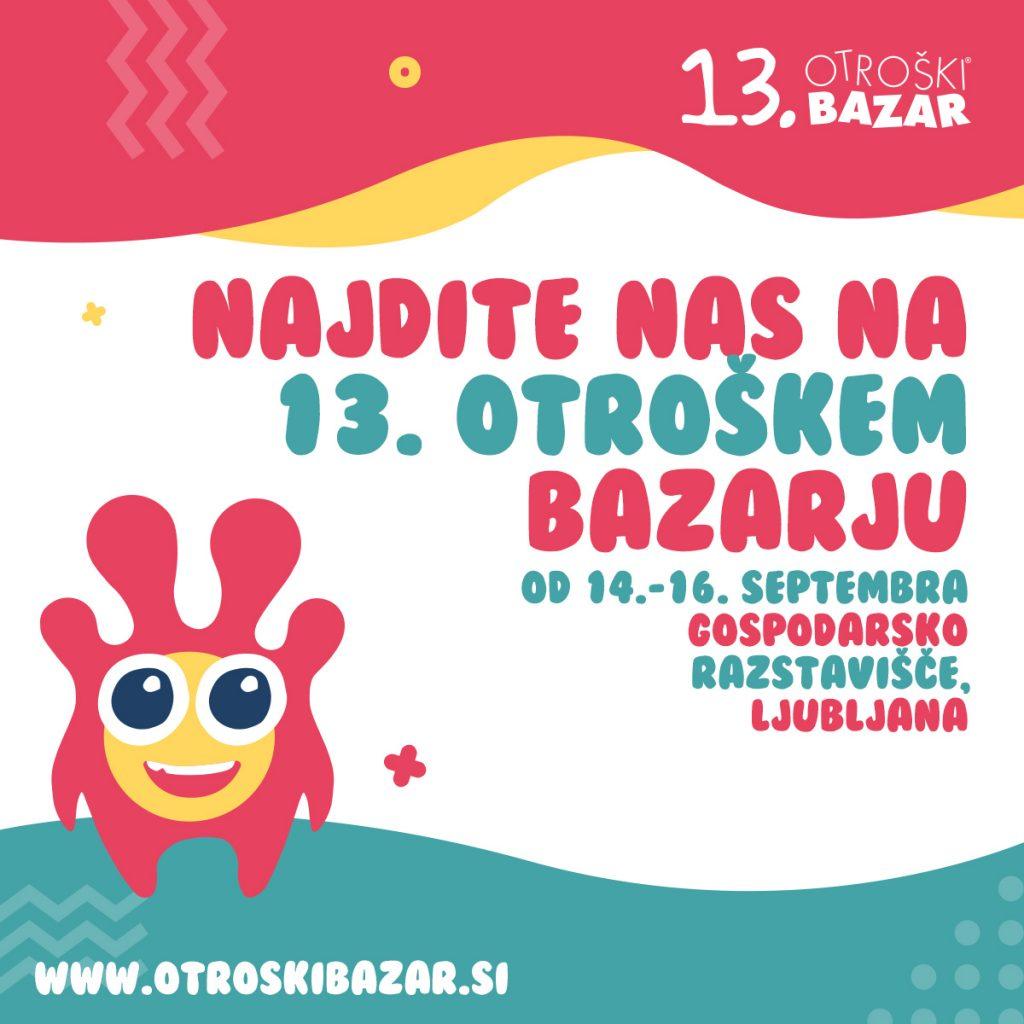13. otroški bazar - vabilo