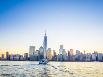New York - skyline, ladjica