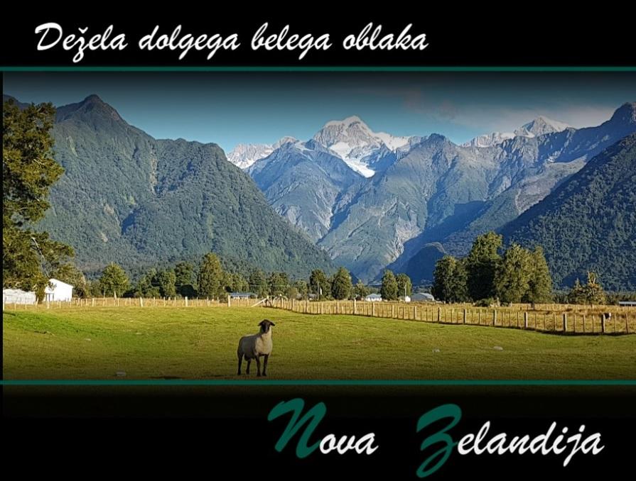 Naslovnica knjige z naslovom in fotografijo pokrajine z ovco v ospredju