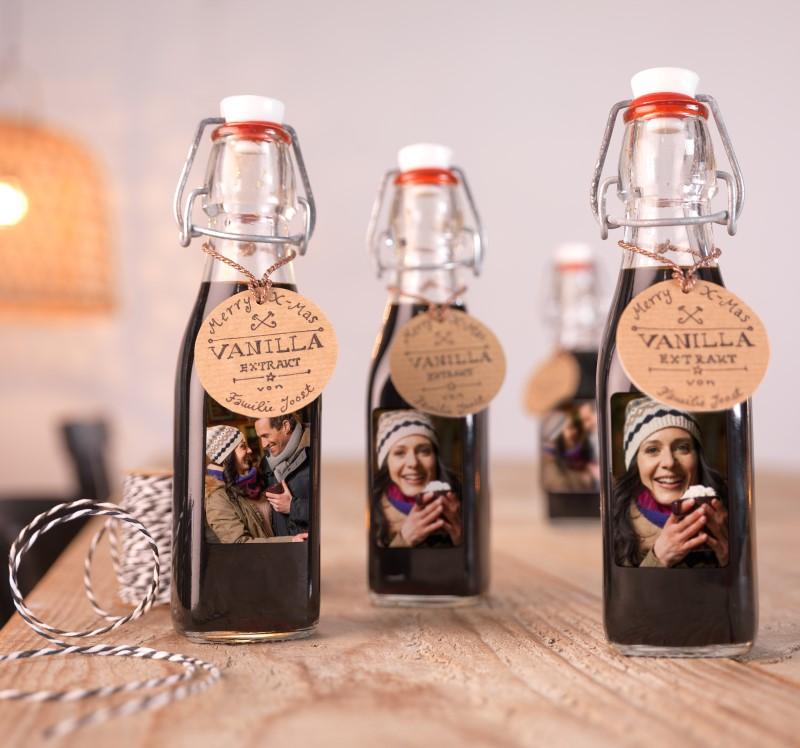 Fotonalepke na steklenicah